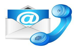 telephone and email image